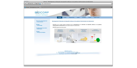 Example of medical devices manufacturing company web site