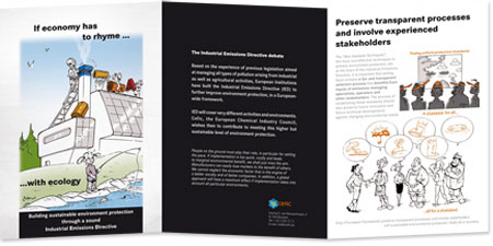 Example of conception and creation of leaflet for lobbying