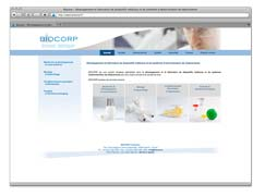 Example of creation of a medical device manufacturing company web site