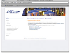 Example of creation of a process engineering company web site