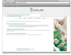 Example of creation of a medical supplies company web site